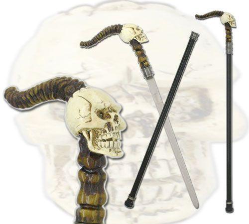 # RCBWCHBS011855TS Skull Sword Cane