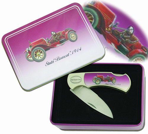 # RCBWCHFK118CAR4TS 1914 Stutz Bearcat Automobile Collectable Pocket Knife