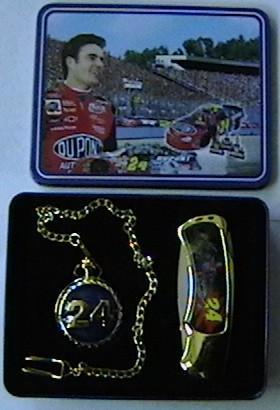 # RCBWCHFK3371PTTS Jeff Gordan #24 Collectable Pocket Knife and Pocket Watch Set