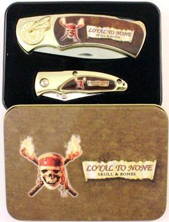 # RCBWCHPK2022SKULLJTS Pirate Collectable Pocket Knives Set