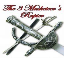 # RCBWHK359TS 3 Musketeer Rapier Sword