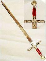 # RCBWPK4915BWTS Silver Masonic Free Mason Knight Templar Sword