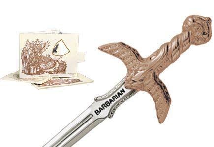 # 5201.3 Miniature Barbarian Sword by Marto of Toledo Spain - Bronze