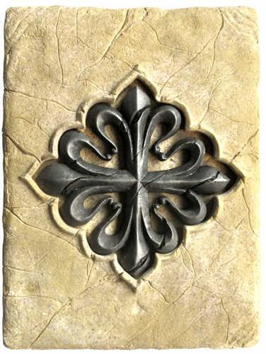 # HH004 Tile with Templar Calatrava Cross by Marto of Toledo Spain