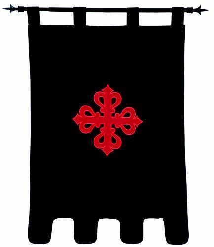 # MF1528 Templar Knight Order of Calatrava Pennant by Marto of Toledo Spain