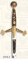 # 5504.2 Damascene Claymore Sword Letter Opener by Marto of Toledo Spain