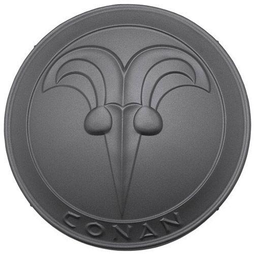# CONAN032 Conan the Barbarian Round Buckler Shield by Marto of Toledo Spain - Black