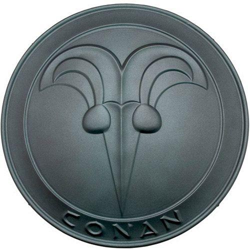 # CONAN031 Conan the Barbarian Round Buckler Shield by Marto of Toledo Spain - Green