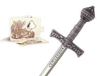 # 5222.2 Miniature Crusader Sword by Marto of Toledo Spain - Silver