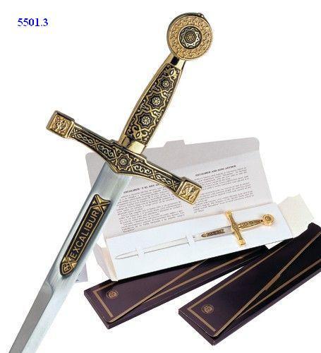 # 5501.3 Damascene Excalibur Sword Letter Opener by Marto of Toledo Spain