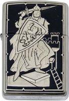 # 840002 Damascene Knight Zippo Lighter by Marto of Toledo Spain