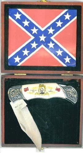 # RCEWPK98RLTS Confederate General Robert E. Lee Flags Collector Pocket Knife