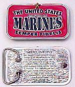 # RCGRBBUSMCTS United States Marines Belt Buckle