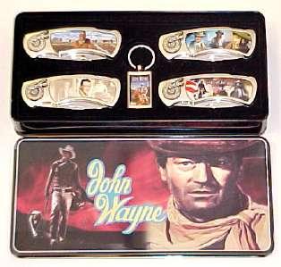# RCBWCHFK117JW4TTS John Wayne 5 Piece Collector Pocket Knife Set