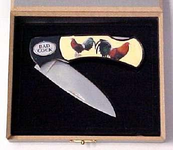 # RCGRCK118BTS Bad Cock Collectable Pocket Knife
