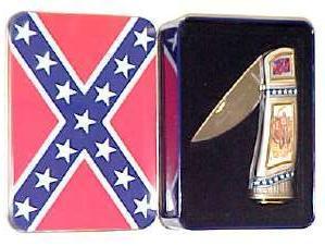 # RCGRCK215STTS Confederate General Jeb Stuart Collector Pocket Knife