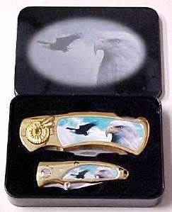 # RCGRKC202ESTS Eagle in Flight Collectable Pocket Knife Set