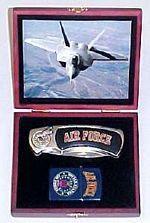 # RCGRPK2020902AFTS United States Air Force Pocket Knife and Lighter Collector Set