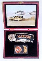 # RCGRPK2020902MarinesTS United States Marines Pocket Knife and Lighter Collector Set