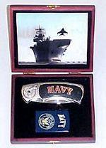 # RCGRPK2020902NavyTS United States Navy Pocket Knife and Lighter Collector Set