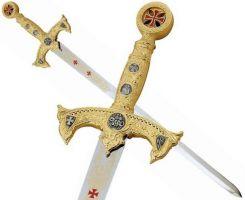 # 584 Gold Deluxe Templar Sword by Marto of Spain