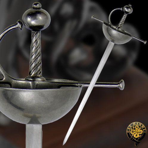 # RCMH2303TS Paul Chen Cas Hanwei Spanish Cup Hilt Miniature Rapier Sword