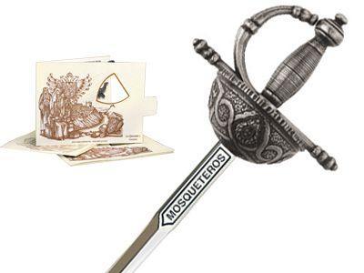 # 5224.2 Miniature Three Musketeers Rapier Sword by Marto of Toledo Spain - Silver