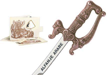# 5210.3 Miniature Arabian Scimitar Cutlass by Marto of Toledo Spain - Bronze
