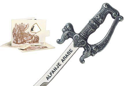 # 5210.2 Miniature Arabian Scimitar Cutlass by Marto of Toledo Spain - Silver
