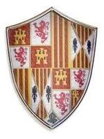 # 5283 Miniature Catholic Kings Shield by Marto of Toledo Spain