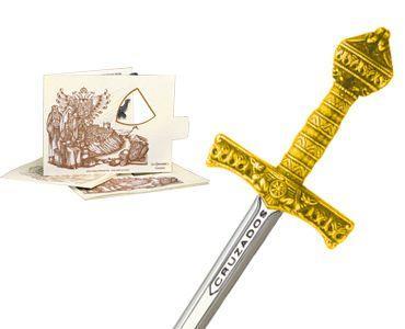 # 5222.1 Miniature Crusader Sword by Marto of Toledo Spain - Gold