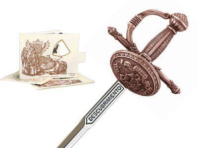 # 5226.3 Miniature Discovery Rapier Sword by Marto of Toledo Spain - Bronze