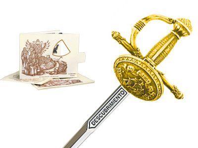 # 5226.1 Miniature Discovery Rapier Sword by Marto of Toledo Spain - Gold