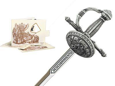 # 5226.2 Miniature Discovery Rapier Sword by Marto of Toledo Spain - Silver