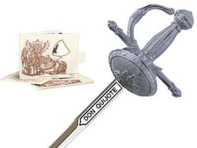 # 5215.2 Miniature Don Quixote Sword by Marto of Toledo Spain - Silver