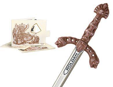# 5221.3 Miniature Roland Sword by Marto of Toledo Spain - Bronze