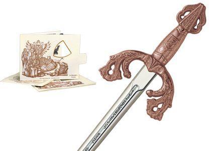 # 5204.3 Miniature El Cid Campeador Tizona Sword by Marto of Toledo Spain - Bronze
