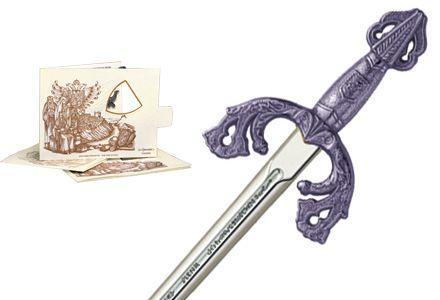 # 5204.2 Miniature El Cid Campeador Tizona Sword by Marto of Toledo Spain - Silver