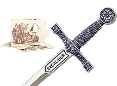 # 5200.2 Miniature King Arthur Excalibur Sword by Marto of Toledo Spain - Silver