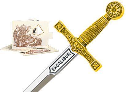# 5200.1 Miniature King Arthur Excalibur Sword by Marto of Toledo Spain - Gold