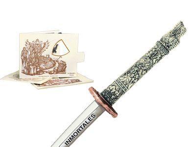 # 5214.3 Miniature Highlander Dragon Samurai Katana Sword by Marto of Toledo Spain - Bronze