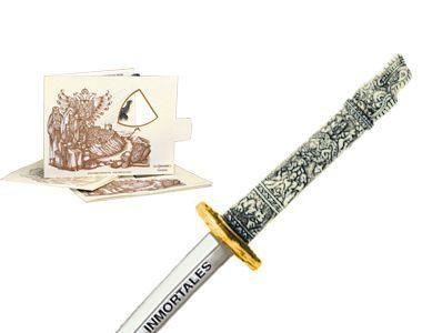 # 5214.1 Miniature Highlander Dragon Samurai Katana Sword by Marto of Toledo Spain - Gold