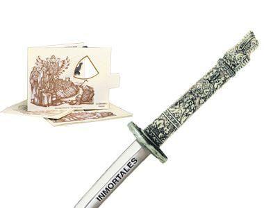 # 5214.2 Miniature Highlander Dragon Samurai Katana Sword by Marto of Toledo Spain - Silver