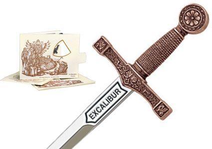 # 5200.3 Miniature King Arthur Excalibur Sword by Marto of Toledo Spain - Bronze