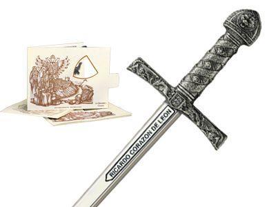 # 5218.2 Miniature King Richard the Lionheart Sword by Marto of Toledo Spain - Silver