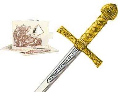 # 5218.1 Miniature King Richard the Lionheart Sword by Marto of Toledo Spain - Gold