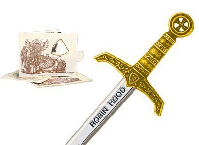 # 5207.1 Miniature Robin Hood Sword by Marto of Toledo Spain - Gold