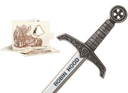 # 5207.2 Miniature Robin Hood Sword by Marto of Toledo Spain - Silver