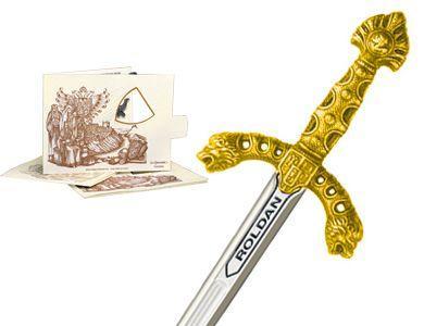 # 5221.1 Miniature Roland Sword by Marto of Toledo Spain - Gold