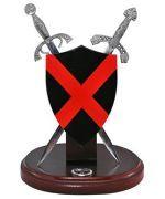 # RC3061HTS Miniature Saint Patrick Battle Shield and Swords